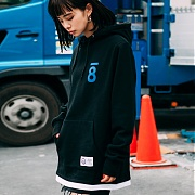 본챔스 LAYERD AND SLIT HOOD BLACK CEPDMHD04BK
