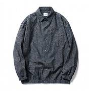 파르티멘토 (UNISEX)Denim Coach Shirt Jacket Black