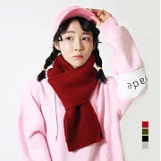 [어메이드] Amade Basic Muffler Deep Red