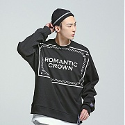 로맨틱크라운 Big logo crew neck_Black