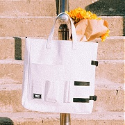 DOCUMENT TOTE BAG (WHITE)