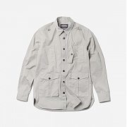 프리즘웍스 Safary shirt jacket _ light gray