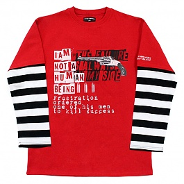 아임낫어휴먼비잉 The Failure is Always on My Side T-Shirt 2 - Red