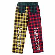 아임낫어휴먼비잉 Tartan Check Patch Pants