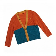 [세인트리스] COLOR BLOCK CARDIGAN ORANGE