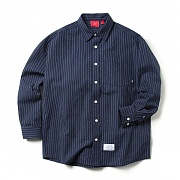 크리틱 STRIPE OVER FIT SHIRTS (NAVY)_CTOEPLS02MN1