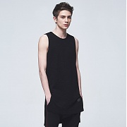 카네브로스(CB) SLUB LONG SLEEVELESS_BK