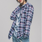 세인트페인 SP 17S CHECK SHIRTS TYPE-B-BLUE
