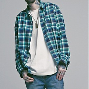 세인트페인 SP 17S CHECK SHIRTS TYPE-B-GREEN