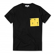 (H1)Maxwell Palms Pocket(mens S/S t-shirt.black)