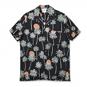 (H1)Nevin s/s Hawaii(mens S/S shirts.pirate black)