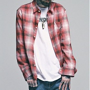 (단독상품)세인트페인 SP 17S CHECK SHIRTS TYPE D-RED