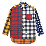 스티그마 STIGMA CROSS OVERSIZED FLANNEL CHECK SHIRTS MULTI