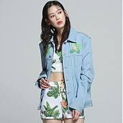 로맨틱크라운 Tropical Trucker Jacket_Blue