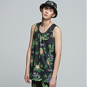로맨틱크라운 TROPICAL LEAF Sleeveless_Black
