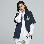 로맨틱크라운 Tropical Night Shirt_Navy