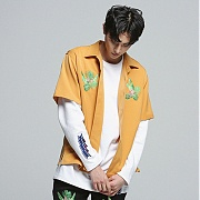 로맨틱크라운 Tropical Night Shirt_Mustard