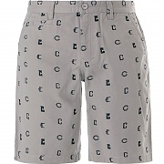 크룩스앤캐슬 룩 엠브로이더리 숏팬츠 그레이 (CROOKS&CASTLE Mens Woven Castle Rook Embroidery Shorts Grey Speckle)