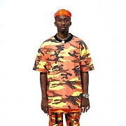 FNTY Multi Camo Oversize T-shirt ORANGE
