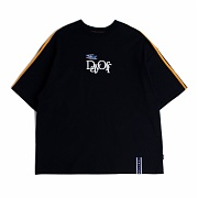 로맨틱크라운 Day Off Shoulder Line T shirt_Navy