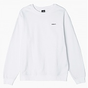 OBEY UNDERGROUND WORLDWIDE BASIC GRAPHIC CREW FLEECE WHT
