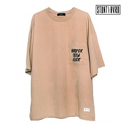 스턴트 STUNT Harder Pocket Over T-Shirts (Beige)