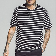 세인트페인 SP 17S STRIPE TEE SS TYPE F-BLACk