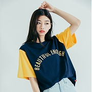 모티브스트릿 COLOR BLOCK SST NAVY YELLOW