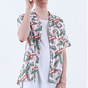 바이엘 NEWW HAWAIIAN SHIRT WHITE