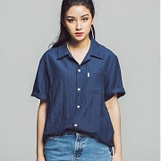 세인트페인 SP 17S LINEN OPEN SHIRTS SS-NAVY