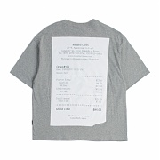 로맨틱크라운 Receipt T shirt_Gray