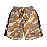 로맨틱크라운 Side Line Sweat Shorts_Camo