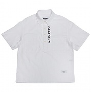 콰이어티스트 Duplex Seersucker Pull-over Shirts (white)