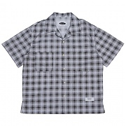 콰이어티스트 Solid Check Open-collar Shirts (black)