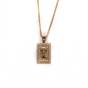 디자인바이티에스에스Design By TSS JESUS SQUARE NECKLACE - GOLD