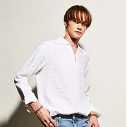 얀13 SENSUAL V-NECK SHIRTS_WHITE