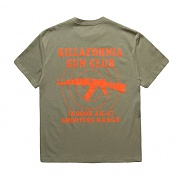 FNTY Killerfornia gun oversize T-shirt (스나이퍼 티셔츠) KHAKI