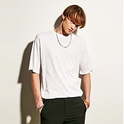얀13 SUMMER BASIC ROUND T-SHIRTS_WHITE