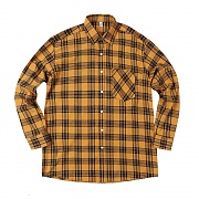굿펠라즈 GF Brick Check Flannel Shirt Yellow