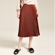 얀13 MID PLEATS SKIRTS_BROWN