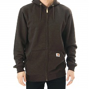 칼하트 미드웨이트 후드 집업 다크커피 (Carhartt Midweight Hooded Zip-Front Sweatshirt Dark Coffee Heather)