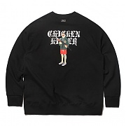 크리틱 CHICKEN KILLER SWEAT SHIRT(BLACK)_CTOEACR03UC6