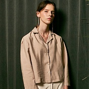얀13 SIMPLE JACKET BLOUSE_BEIGE