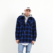 바이엘 HEAVY FLANNEL SHIRT BLUE