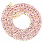 ROIAL Pink Tennis Necklace