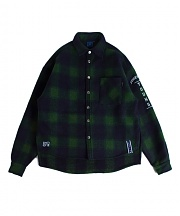 로맨틱크라운 Forever Young Check Shirt Jacket_Green