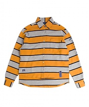 로맨틱크라운 Stripe Cotton Shirt_Mustard