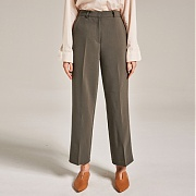 얀13 CLASSIC WIDE LONG PANTS_KHAKI