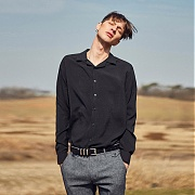 (단독가)얀13 WELL BALANCED SIMPLE SHIRTS_BLACK