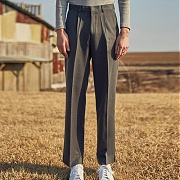 얀13 SOFT LONG SLACKS_GRAY